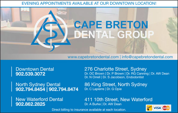 Downtown Dental (902-539-3072) - Display Ad -