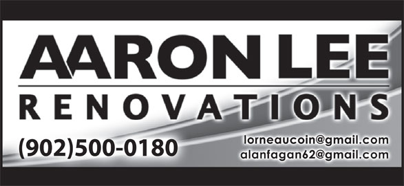 Aaron Lee Renovations (902-562-5395) - Display Ad -