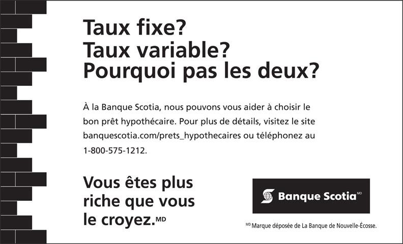 Scotiabank (1-800-575-1212) - Annonce illustrée======= -
