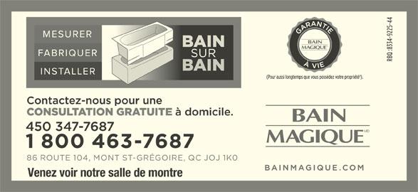 Bain Magique (450-347-7687) - Annonce illustrée======= - Venez voir notre salle de montre