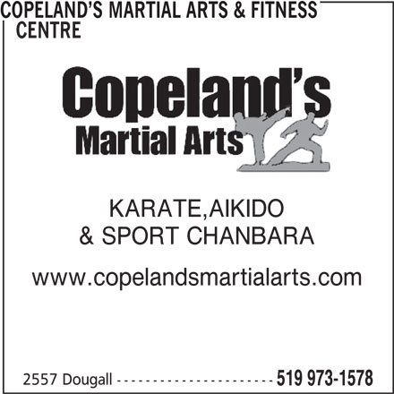 Ads Copeland's Martial Arts & Fitness Centre