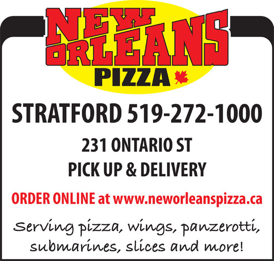 New Orleans Pizza (519-272-1000) - Annonce illustrée======= -