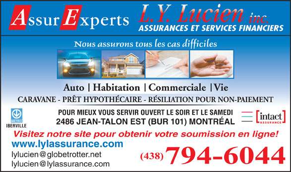 Lyl assurances inc 2486 rue jean talon e montr al qc for Assurance maison montreal