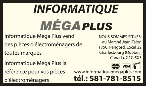 Informatique Méga Plus (418-624-4555) - Annonce illustrée======= -