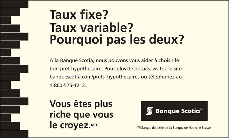 Scotiabank (1-800-575-1212) - Annonce illustrée======= - 1-800-575-1212.