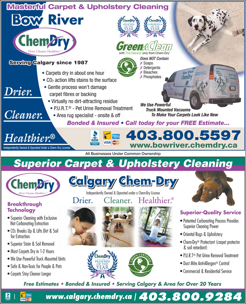 Bow River Chem Dry 29 Wentworth Way Sw Calgary Ab