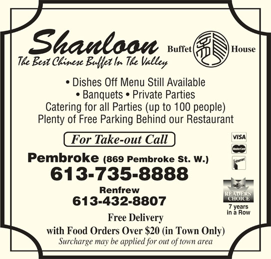 Shanloon Restaurant Pembroke Ontario