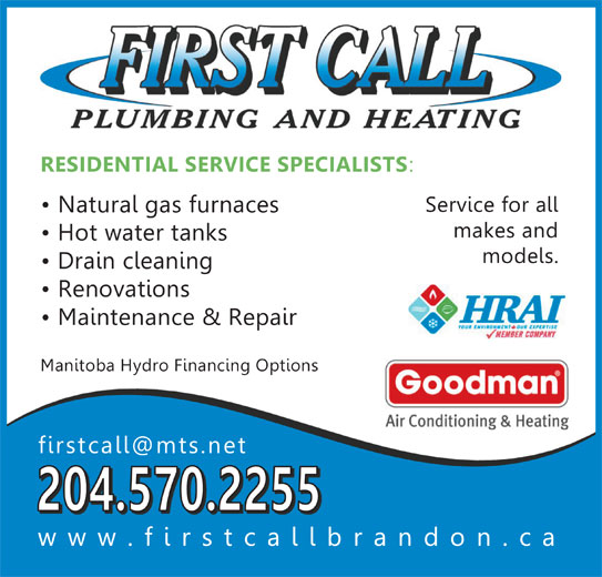 First Call Plumbing And Heating Opening Hours 1635e