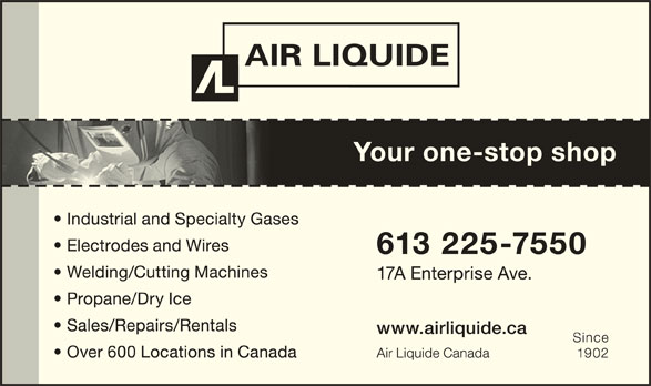 Air Liquide Canada Inc (613-225-7550) - Display Ad -