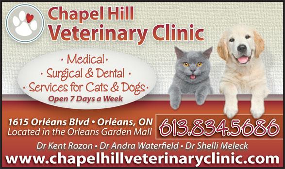 Chapel Hill Veterinary Clinic (613-834-5686) - Display Ad -