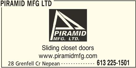 Piramid Mfg Ltd (613-225-1501) - Display Ad -
