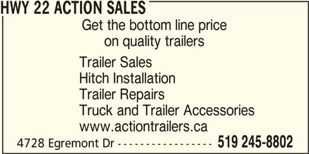 HWY 22 Action Sales (519-245-8802) - Display Ad -