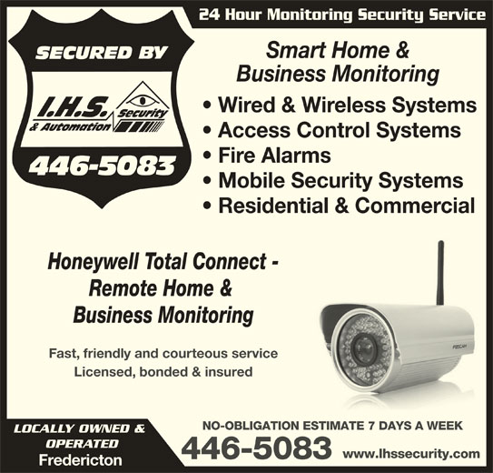 Ihs security automation 1321 route 655 rusagonis nb for Total home control