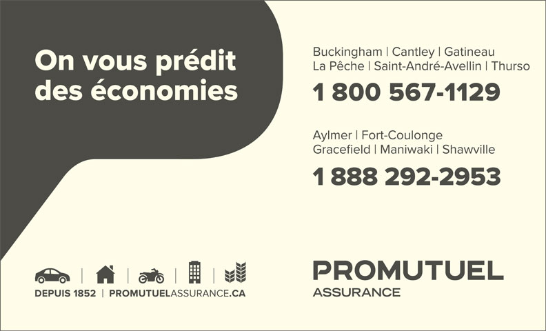 Promutuel Assurance La Vallée (819-647-2953) - Annonce illustrée======= -