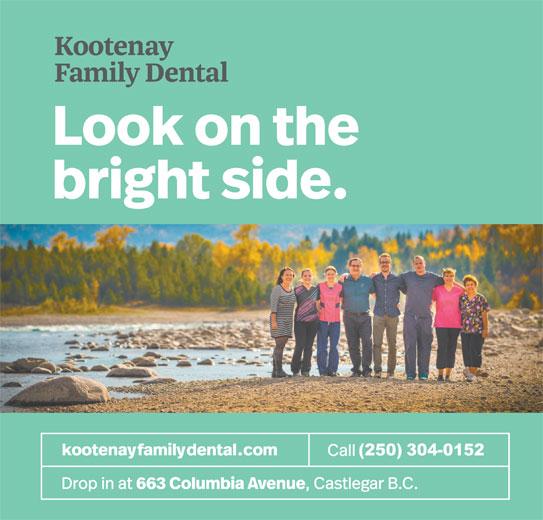 Kootenay Family Dental (250-365-3339) - Display Ad - (250)304-0152