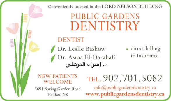 Public Gardens Dentistry (902-446-4232) - Display Ad -