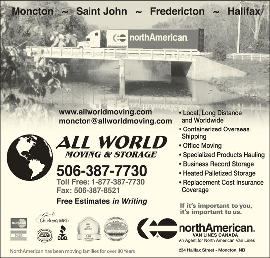 All World Moving & Storage (506-387-7730) - Display Ad -