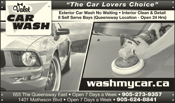 valet car wash opening hours 655 queensway e mississauga on. Black Bedroom Furniture Sets. Home Design Ideas