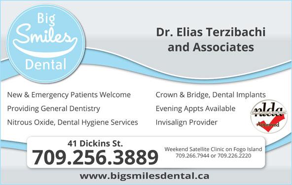 Big Smiles Dental Clinic (709-256-3889) - Display Ad -