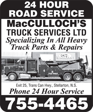 MacCulloch's Truck Services (902-755-4465) - Display Ad