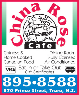 China Rose Cafe (902-895-8588) - Display Ad