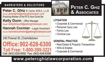 Ghiz Peter C (902-628-6300) - Annonce illustrée - - Legal Assistant Hannah Cormier - Legal Assistant Hannah Cormier - Legal Assistant Hannah Cormier - Legal Assistant Hannah Cormier