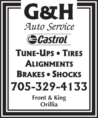 G & H Auto (705-329-4133) - Display Ad - Front & King Orillia  Front & King Orillia