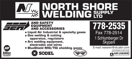 North Shore Welding Supply Ltd (506-778-2535) - Display Ad