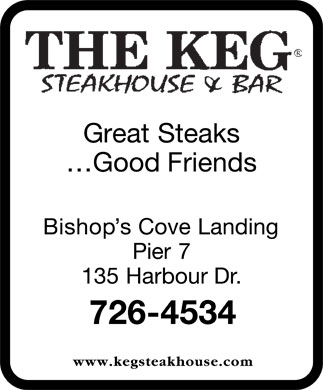 The Keg Steakhouse & Bar (709-726-4534) - Annonce illustrée