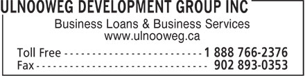 Ulnooweg Development Group Inc (1-888-766-2376) - Annonce illustrée - Business Loans & Business Services www.ulnooweg.ca