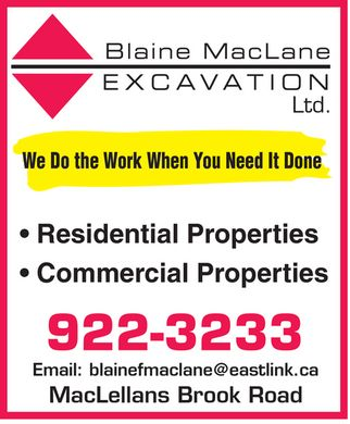 MacLane Blaine F Excavation Ltd (1-866-305-7569) - Display Ad