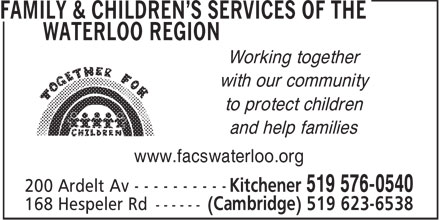 services of the waterloo region 200 ardelt ave kitchener on