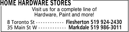 Home Hardware Stores (519-986-3011) - Display Ad