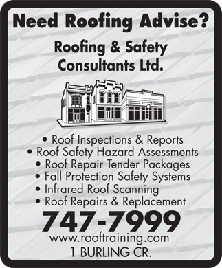 Roofing and Safety Consultants Ltd (709-747-7999) - Annonce illustrée