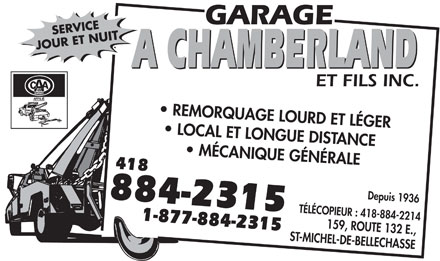 Garage a chamberland fils inc 159 rte 132 e saint for Garage michel auto