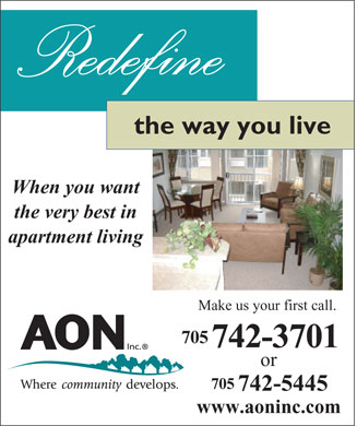 AON Inc (705-742-5445) - Display Ad