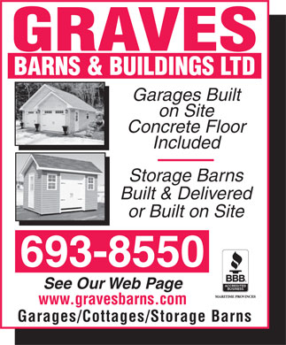 Graves Barns &amp; Buildings Ltd (506-693-8550) - Annonce illustr&eacute;e
