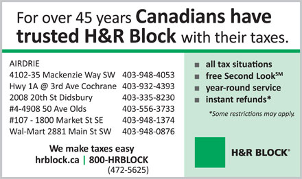 H&R Block (403-948-4053) - Display Ad