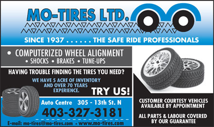Mo-Tires Ltd (403-327-3181) - Display Ad