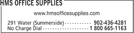 HMS Office Supplies (902-436-4281) - Annonce illustrée======= - www.hmsofficesupplies.com