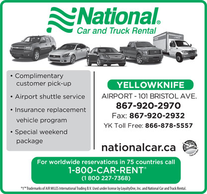 National Car And Truck Rental (867-920-2970) - Display Ad