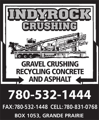 Indyrock Crushing (780-532-1444) - Annonce illustrée - GRAVEL CRUSHING RECYCLING CONCRETE AND ASPHALT 780-532-1444  GRAVEL CRUSHING RECYCLING CONCRETE AND ASPHALT 780-532-1444  GRAVEL CRUSHING RECYCLING CONCRETE AND ASPHALT 780-532-1444  GRAVEL CRUSHING RECYCLING CONCRETE AND ASPHALT 780-532-1444  GRAVEL CRUSHING RECYCLING CONCRETE AND ASPHALT 780-532-1444  GRAVEL CRUSHING RECYCLING CONCRETE AND ASPHALT 780-532-1444