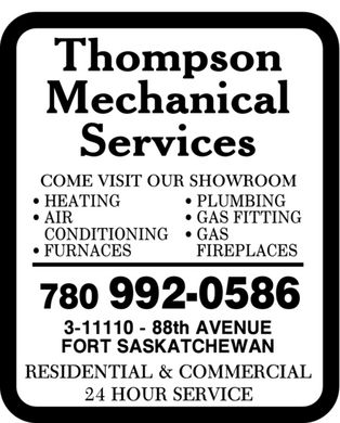Thompson Mechanical Services (780-992-0586) - Annonce illustrée - 780 992-0586