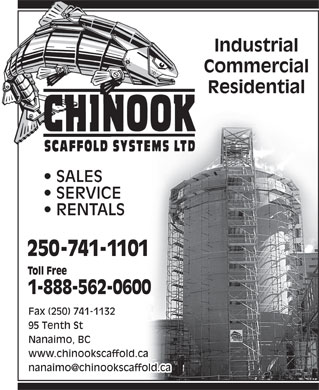 Chinook Scaffold Systems Ltd (250-741-1101) - Annonce illustrée