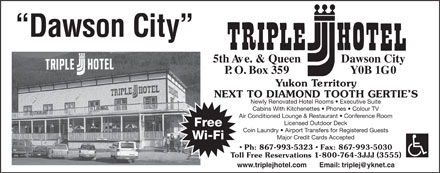 Triple J Hotel (867-993-5323) - Display Ad