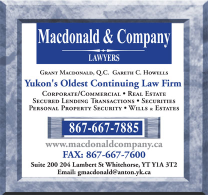 Macdonald & Company (867-667-7885) - Display Ad
