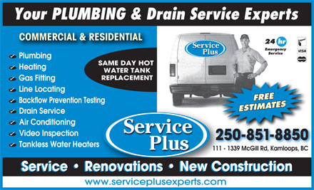 Service Plus (250-851-8850) - Display Ad