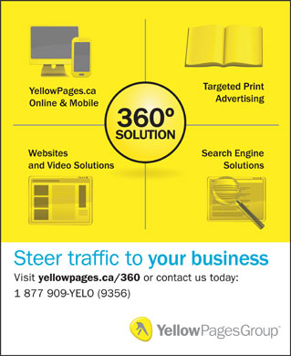 YellowPages.ca (1-877-909-9356) - Display Ad