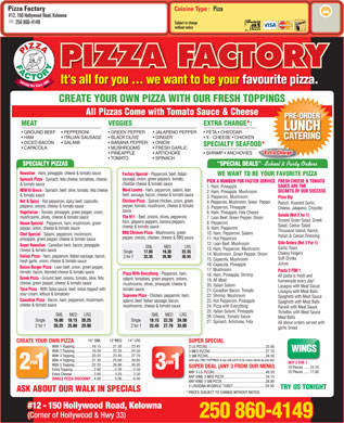 Pizza Factory (250-860-4149) - Menu