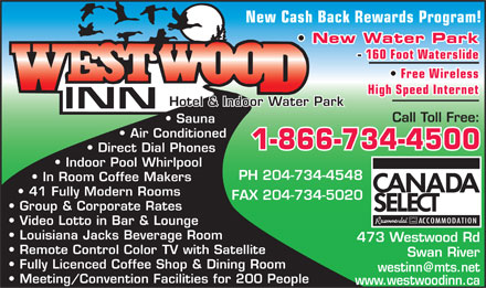 Westwood Inn Hotel & Indoor Water Park (204-734-4548) - Annonce illustrée
